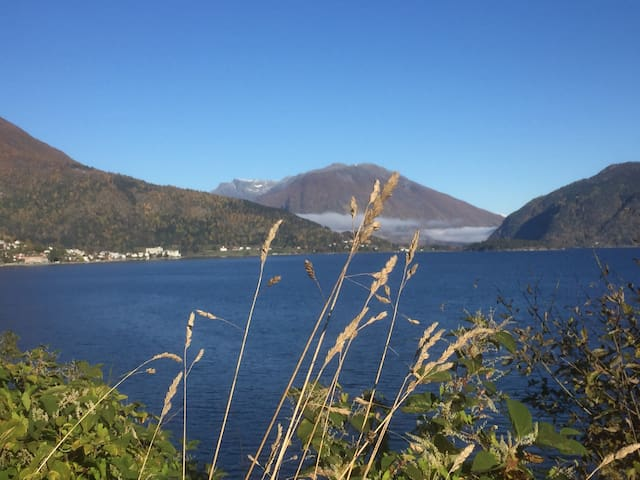 New cottage with amazing Fjordview in Balestrand - Balestrand - Houten huisje