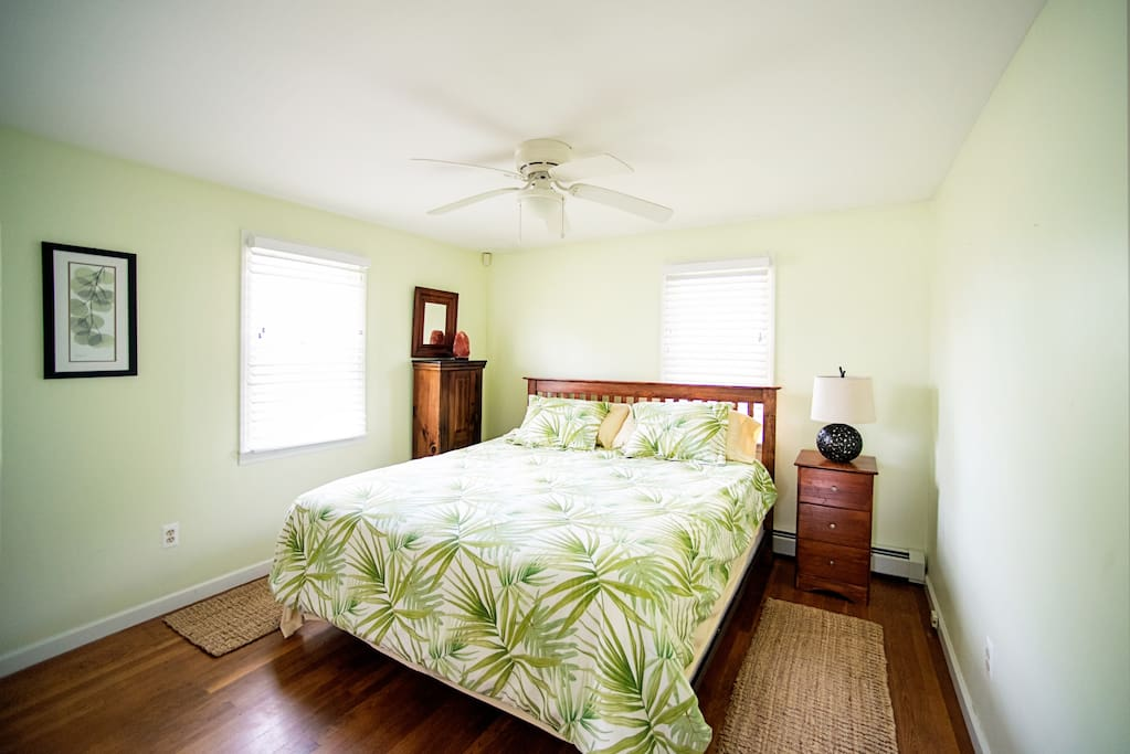 The Master Bedroom has a King-size comfy bed and a large closet.