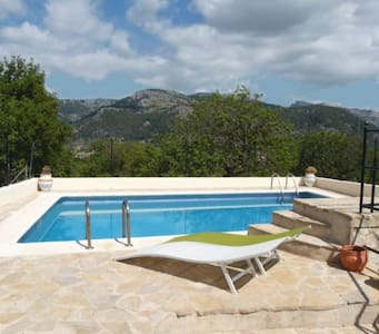 Rustic hillside villa