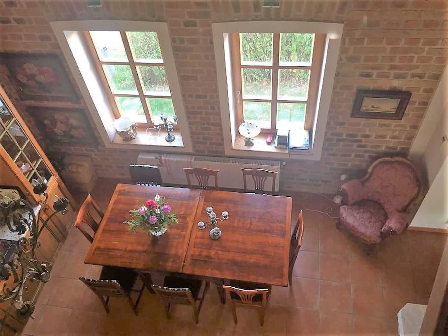 Kitchen area-view from the gallery