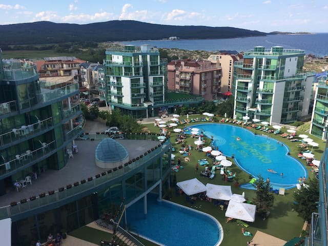 Unik holiday apm 1 room ,sea view, Primorsko.