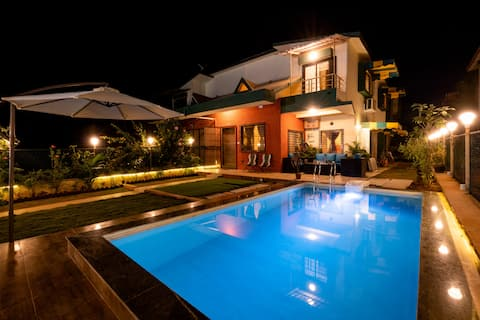 3BHK Private Pool Villa 36 by The Rentalgram
