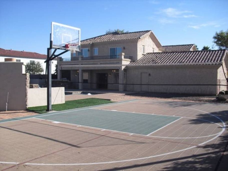 Sport Court, Net, and Equipment for family fun!