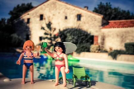 Maison en pierre et piscine privée - Rumah
