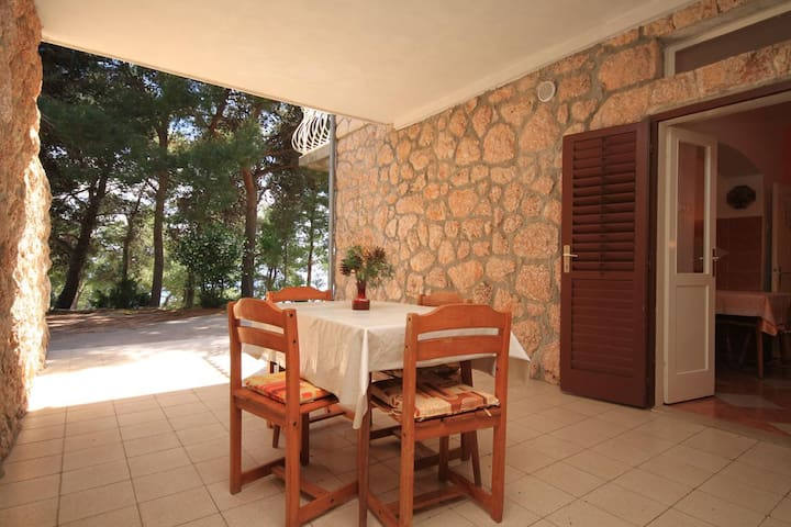 One bedroom apartment with terrace Sveta Nedilja, Hvar (A-8725-c)
