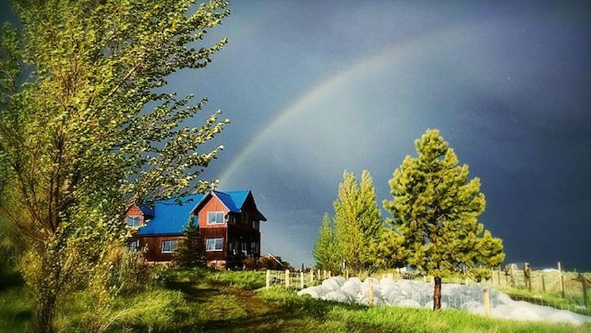 Spring is rainbow season!  And, a great time for seeing some of Montana's iconic big skies.