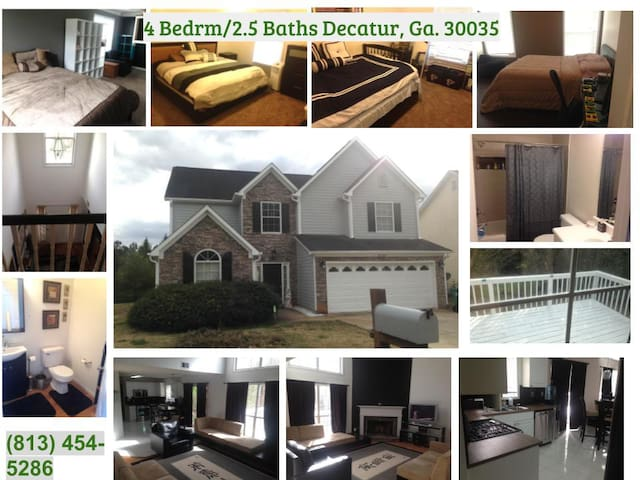 Comfortable/Quiet East Atl Home or Private Rooms - Decatur - Dom