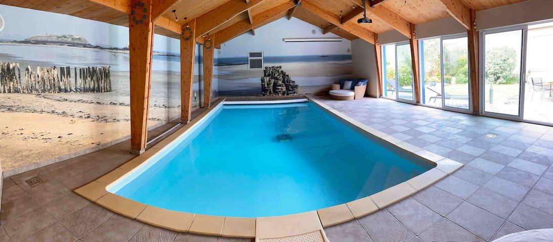 Maison Saint Malo quartier thermes avec piscine