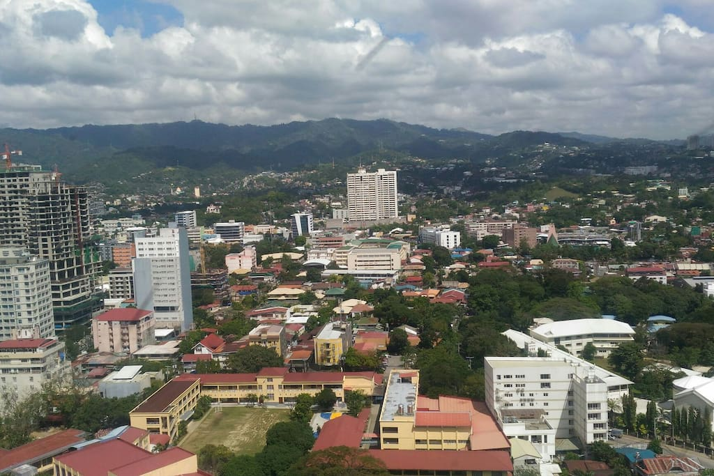 A great view of Cebu City from the apartment.