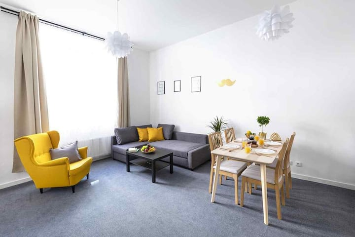 Apartment for 8 persons with Netflix and washer