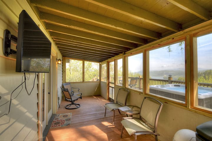 Covered deck with TV