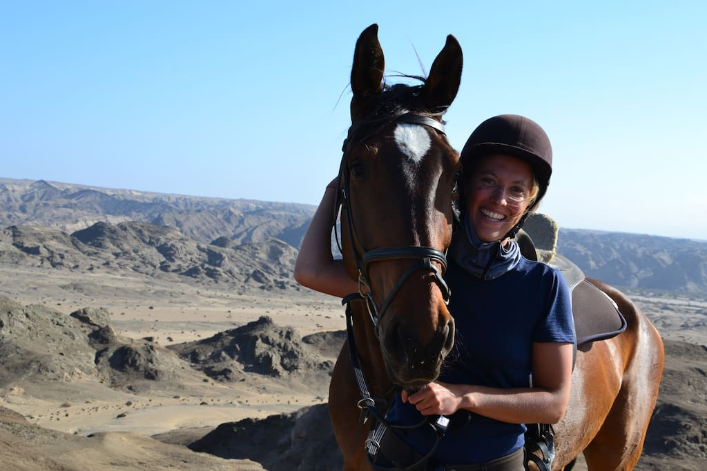 You are more than welcome to join one of our horse trails!