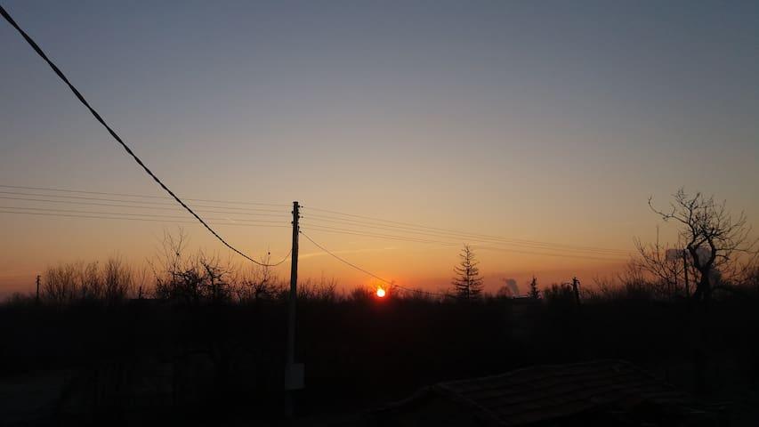 gorgeous sunset at villa kremesti