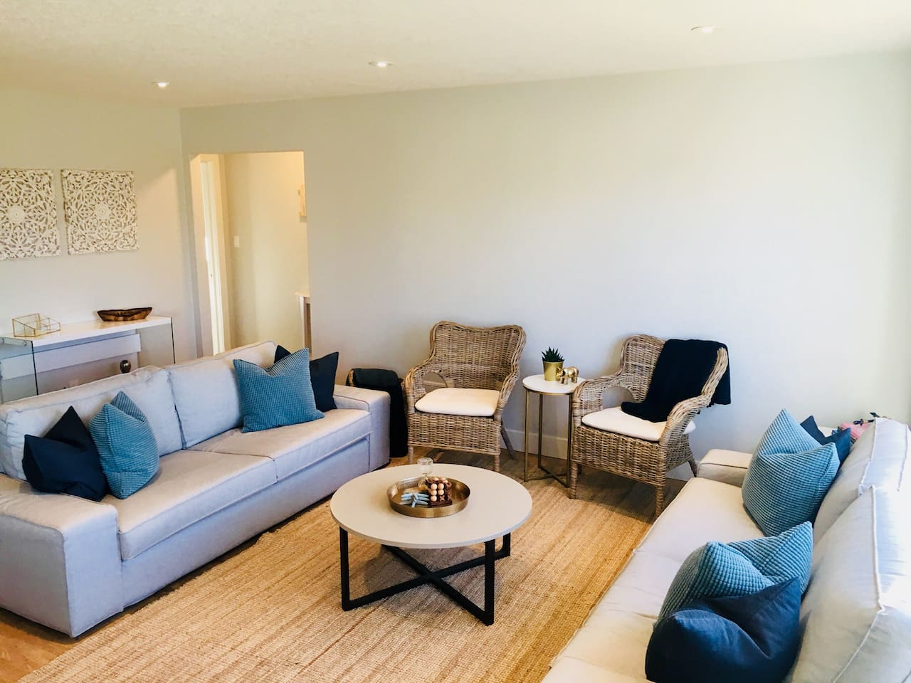 Upper Living Area |  Bright main living area with lots of seating for easy conversations