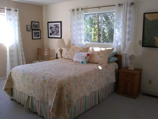 Front Bedroom Downstairs with Queen Size Bed