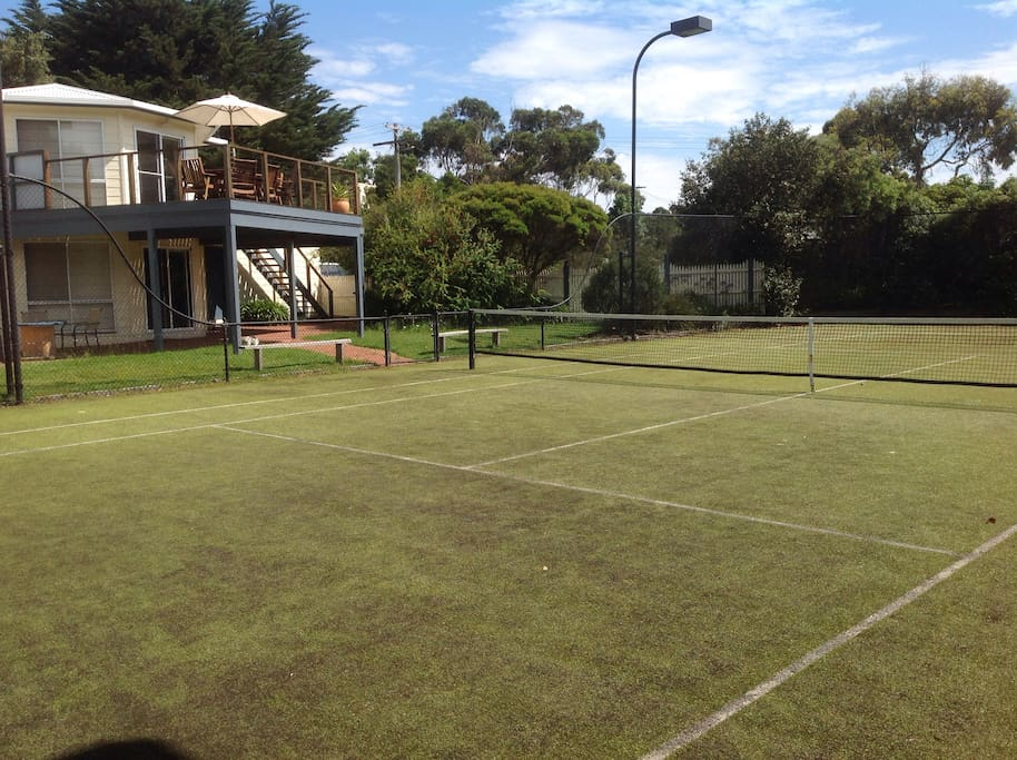 View of house from the Tennis Court, looking towards the street.