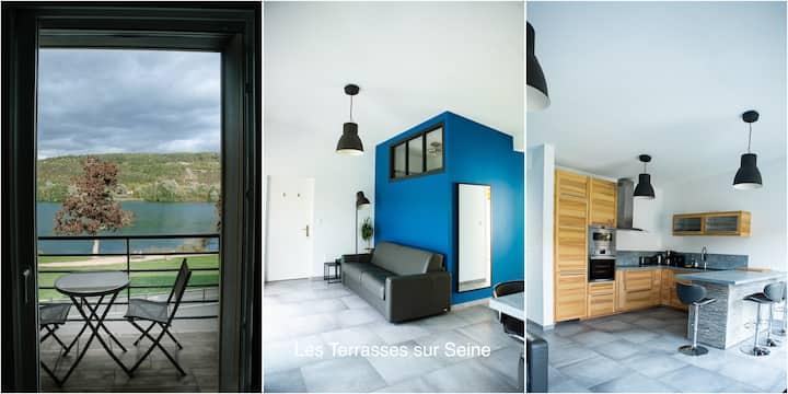 Appartement 2 chambres balcons sur Seine à Vernon