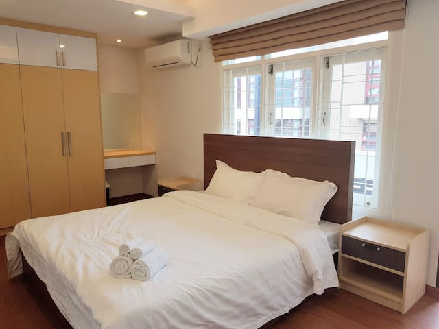 Spacious Bedroom within a Serviced Apartment