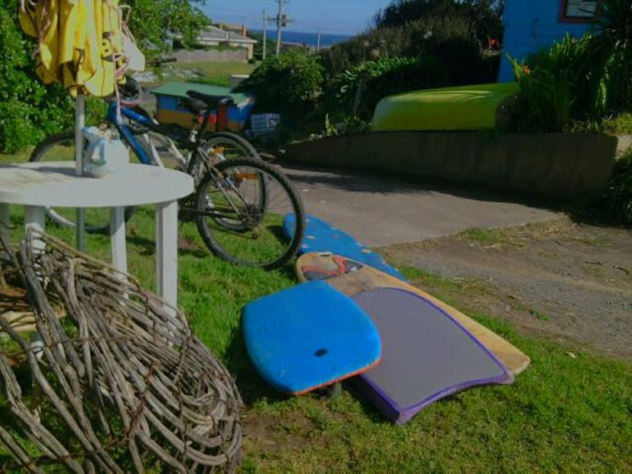 Bicycles and surf gear to use