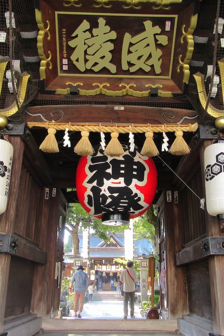 Kushida shrine entrance