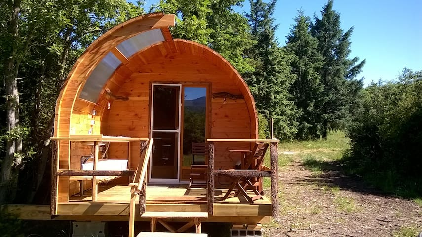 Glamping Lodge, in nature with mountain view! - Nébias