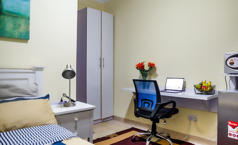 Self contained furnished room with wifi