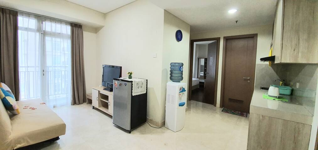 2BR,4BED, 50m2, new,cozy fully furnished apartment