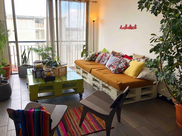 Cozy Private Room zone 10, Super Centric Place