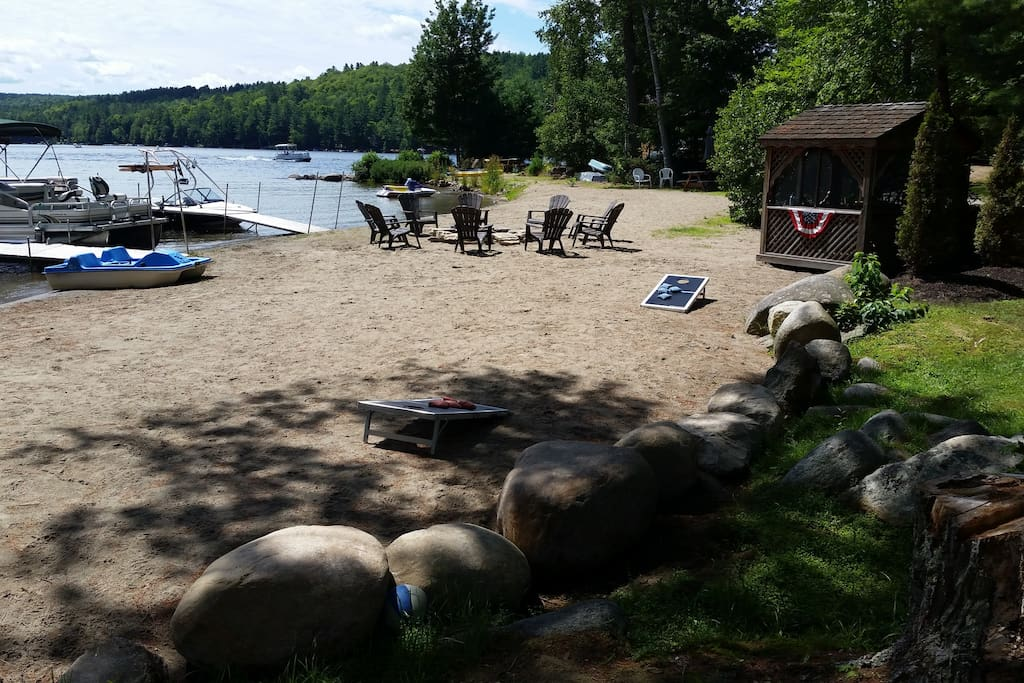 Beach & South View Of Loon Lake
