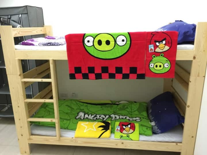 New House! Angry Birds Room at MRT Dingpu Station