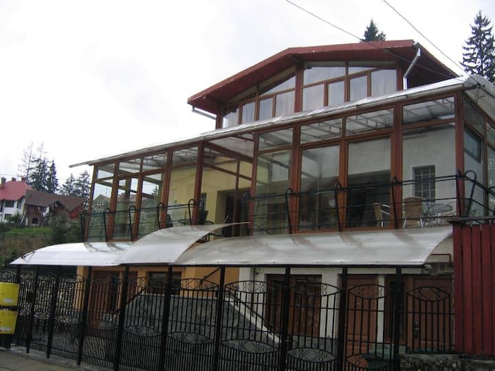 3 rooms in Predeal villa Terrace,Gazebo,Kitchen