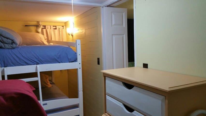 Bunk beds in front bedroom