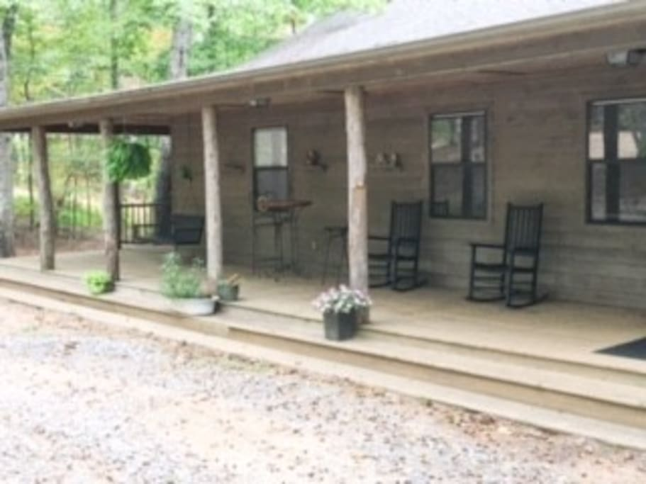 Rocking chairs and porch swing