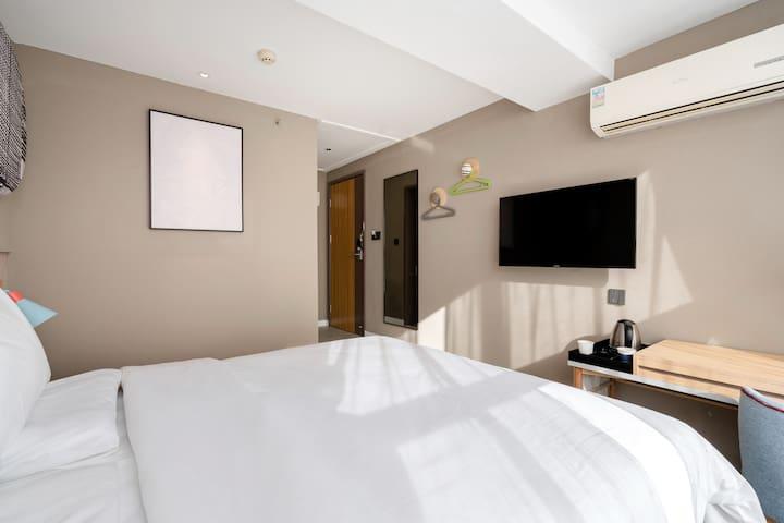 如家酒店「Home Inn」阳光大床房 2号线凤城五路地铁站  方便快捷 舒适入住