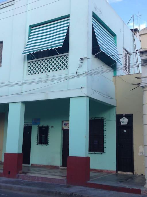 Vista de el frente de la casa