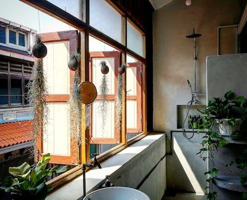 Leju 8- Loft living/OpenAir bathroom/terrace