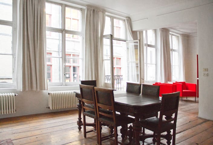 Experience authenticity in a 19th century mnasion. - Ghent - Loft