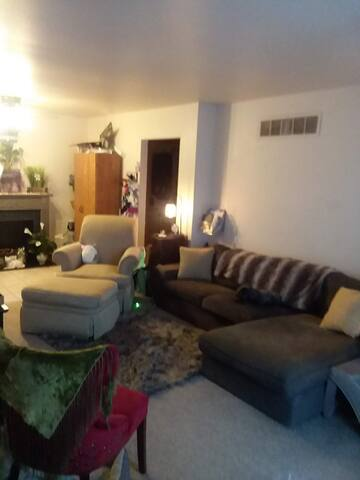 Living room with sectional