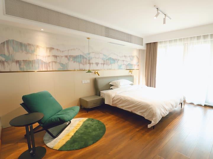 东山/环太湖 清新温馨小居,一线湖景大床房!