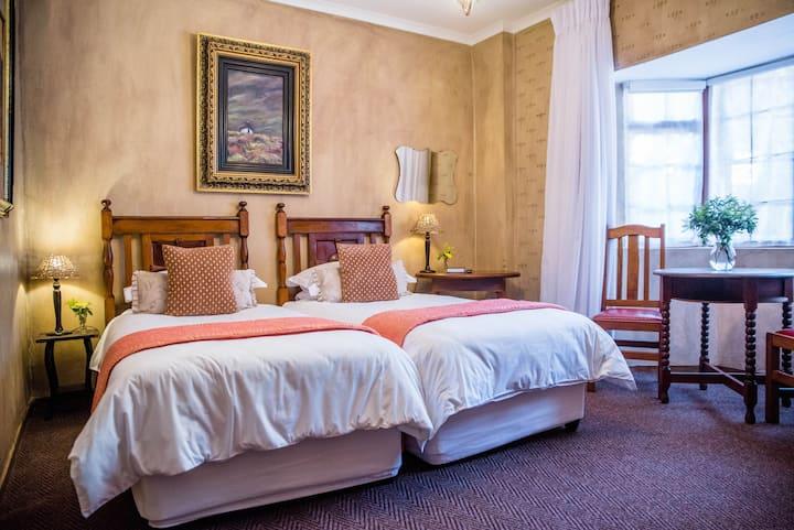 Lovely  twin room on ground floor.