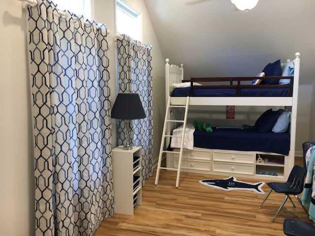 Bunk Beds in Upstairs Recreation/Sleeping Suite