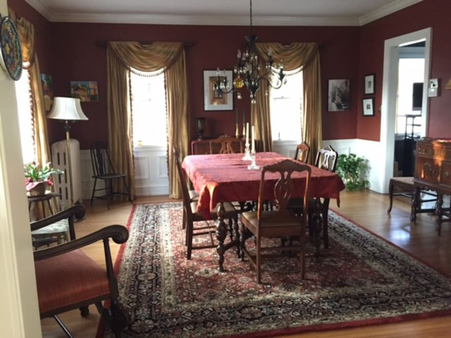 Formal dining room off butler's pantry.