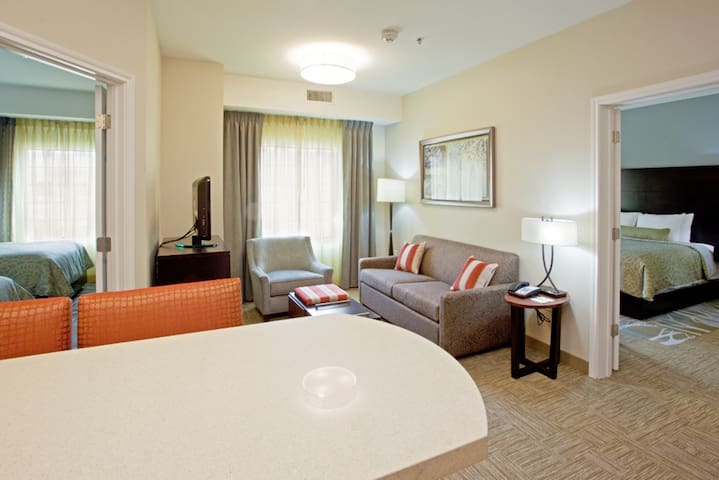 Suite with Roll-in Shower | Indoor Pool, Hot Tub, Free Wi-Fi, Free Breakfast