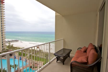 Shores of Panama 1BR/Bunk/2BA 9th Floor Free Wifi Free Fun Included with Rental King in Master - Panama City Beach