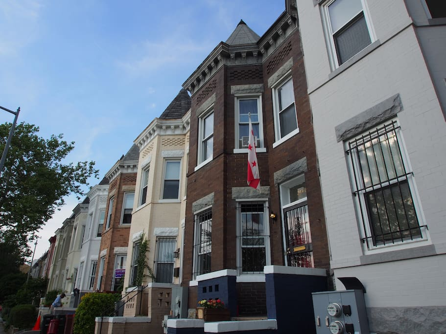 The classic D.C. row house is your home base for adventure.