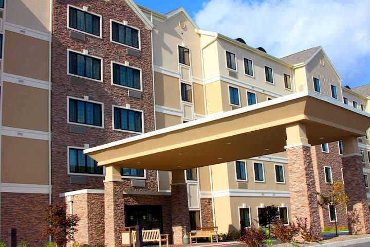 Great for Business Travelers! Free Breakfast + Business Center | 1 Bedroom Suite Near Syracuse