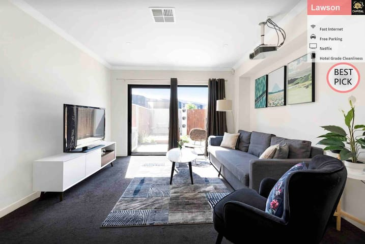 Spacious and Quiet 2BR TH@Lawson with Free Parking
