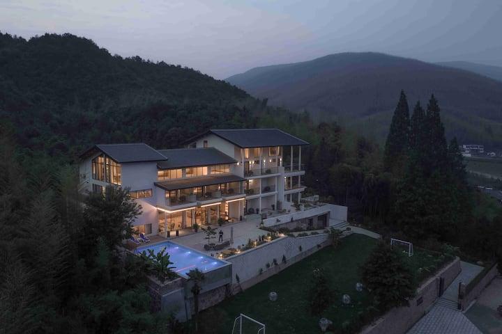 莫干山仁里·心泊莫干,近莫干山景区,带泳池,复式家庭套房,303祥之家