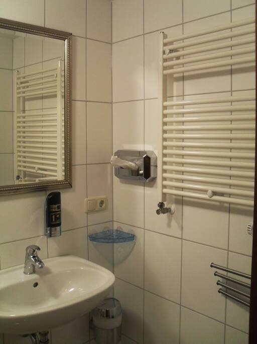 De Badkamers zijn modern, schoon en voorzien van de meeste basisbehoeften.