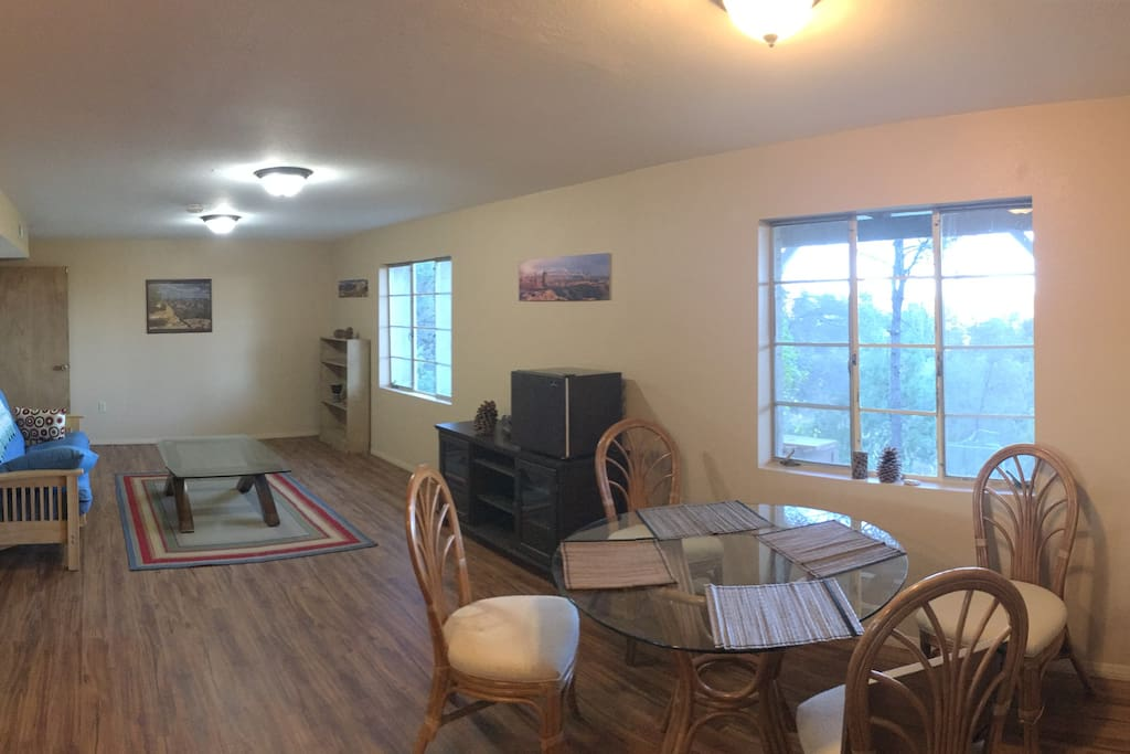 Enjoy the open living/dining space. Its huge!